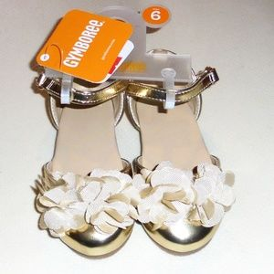 Gymboree Girls Gold Shoes  4 6 7 8 9  NWT